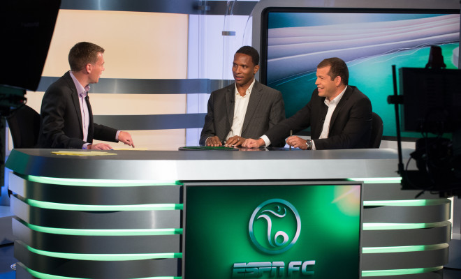 ESPN FC Rehearsal – Behind The Scenes.  –  August 8, 2013