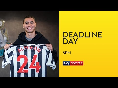 Newcastle break transfer record to sign Almiron for £21m!   Transfer Deadline Day 1
