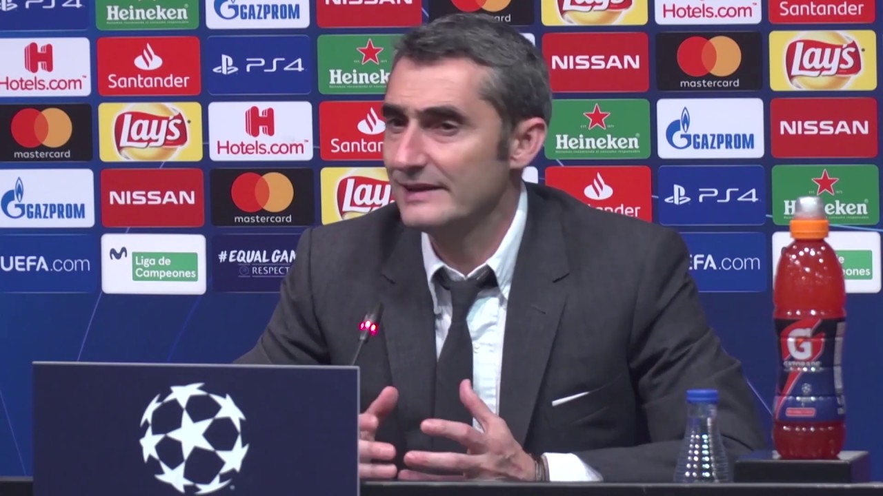 Ernesto Valverde and Barcelona Full press conference and training session