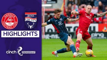 Aberdeen 1-1 Ross County | Late Drama Ends in a Draw | cinch Premiership