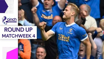Derby Delight for Helander & Hibs Top the Table! | Matchweek 4 Round-Up | cinch Premiership