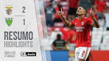 Highlights | Resumo: Benfica 2-1 Tondela (Liga 21/22 #4)