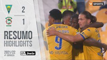 Highlights | Resumo: Estoril Praia 2-1 Marítimo (Liga 21/22 #4)