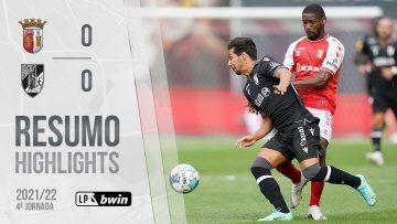 Highlights | Resumo: SC Braga 0-0 Vitória SC (Liga 21/22 #4)