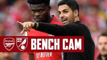 BENCH CAM   Arsenal vs Norwich (1-0)   Back to winning ways at Emirates Stadium