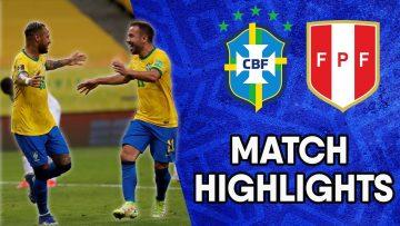 Brazil vs Peru | Matchday 10 Highlights | CONMEBOL South American World Cup Qualifiers