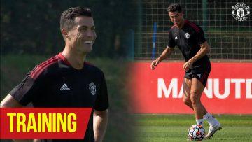 Cristiano Ronaldos return to Carrington | Training | Manchester United v Newcastle United