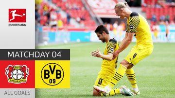 Haaland Brace brings BVB Comeback |  Leverkusen – Dortmund 3-4 | All Goals | MD 4 – Bundesliga 21/22