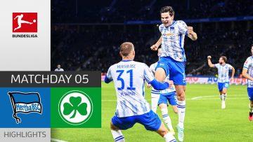 Hertha Berlin – Greuther Fürth 2-1 | Highlights | Matchday 5 – Bundesliga 2021/22