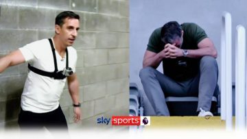 HILARIOUS! Jamie Carragher & Gary Neville race to the top of St. James Park 😂 | #FNFchallenge