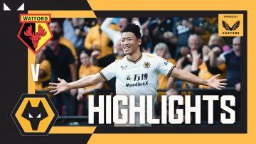 HWANG ON HIS DEBUT!   Watford 0-2 Wolves   Highlights