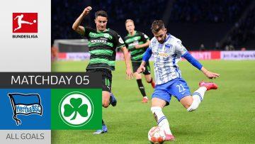 Luck for Hertha | Hertha Berlin – Greuther Fürth  2-1| All Goals | Matchday 5 – Bundesliga 2021/22