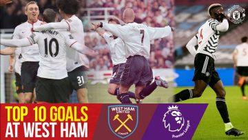 Top 10 PL Goals at West Ham | Rooney, Pogba, Beckham, Scholes | West Ham v Manchester United