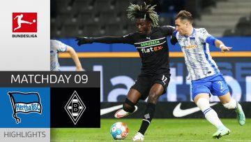 Hertha Berlin – Borussia Mgladbach 1-0   Highlights   Matchday 9 – Bundesliga 2021/22