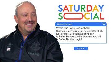 Rafael Benítez Answers the Webs Most Searched Questions About Him | Autocomplete Challenge