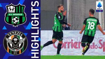 Sassuolo 3-1 Venezia | Vittoria casalinga per il Sassuolo | Serie A TIM 2021/22