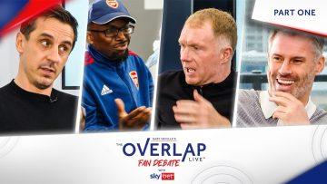 The Overlap Live Fan Debate 2.0: Gary Neville, Jamie Carragher & Paul Scholes | PL Returns Part 1